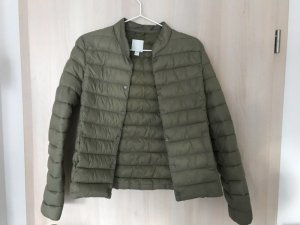 H&M Quilted Jacket green grey