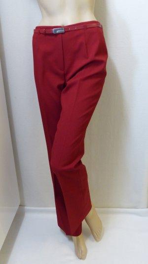 Broek met wijd uitlopende pijpen rood-baksteenrood Polyester