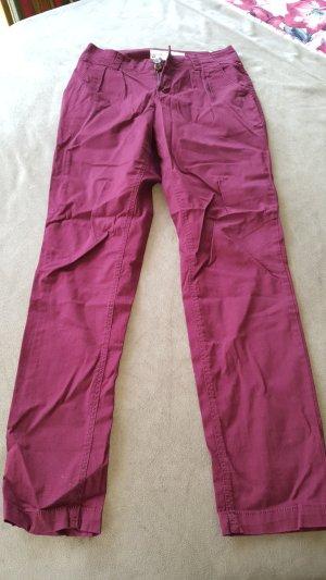 HM Pantalon en jersey bordeau