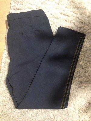 Leichte Stoffhose in dunkelblau