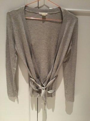 H&M Cache-cœur en tricot gris clair