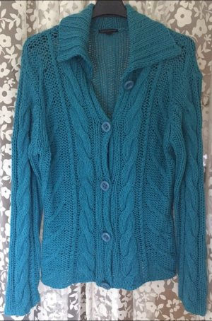 Leichte Strickjacke mit Zopfmuster, cpm Collection