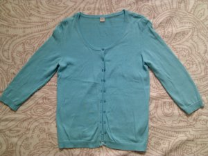 s.Oliver Short Sleeve Knitted Jacket turquoise