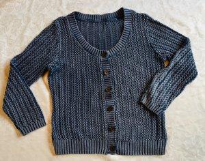 Esprit Veste tricotée en grosses mailles gris ardoise-bleu acier coton