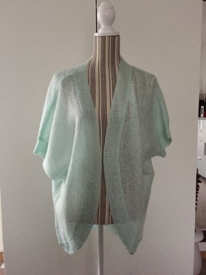 H&M Short Sleeve Knitted Jacket mint-turquoise