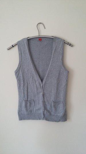 Leichte Strickweste aus Baumwolle von s.Oliver in grau