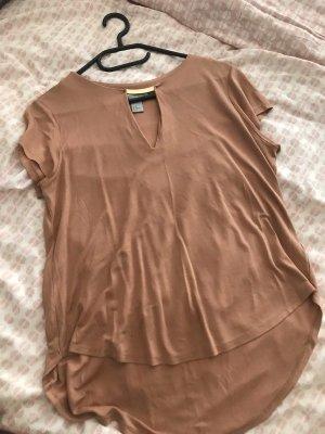 Leichte T-Shirt Bluse mit goldenem Detail