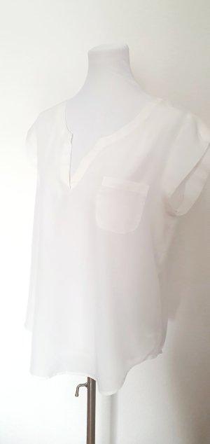 leichte Tunika Bluse Opus cremeweiss Satin Shirt casual Blusen Shirt cremeweiss 42
