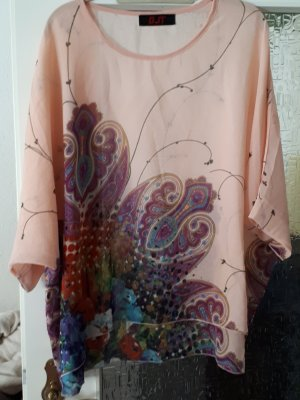 Tuniekblouse abrikoos-lila