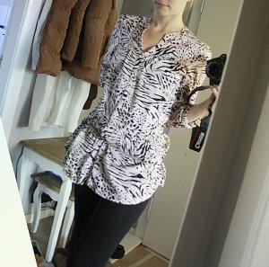 Leichte Tunika / Shirt / Bluse im Tigerlook beige 36 - animal print
