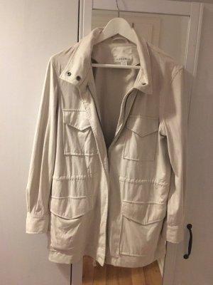 Amisu Between-Seasons Jacket beige synthetic fibre