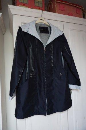 Chaqueta estilo naval azul oscuro tejido mezclado