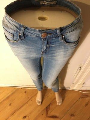 leichte verwaschene blue jeans