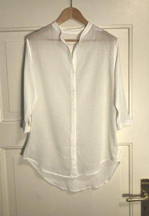 Leichte weiße Baumwolle-Bluse