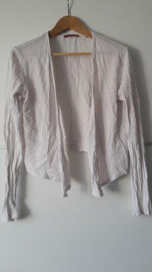 leichte weiße Jacke, Kurzjacke, Strickjacke, Shirtjacke Ethnomuster