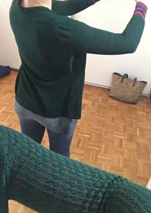 H&M Gilet tricoté vert foncé viscose