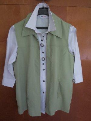 Gilet de sport vert pâle polyester