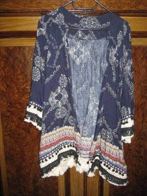 Kimono blouse veelkleurig Katoen