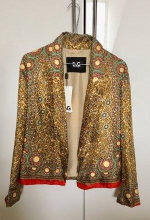 leichter Blazer / Jacke von D&G Dolce Gabbana aus 100% Seide, ungetragen & mit Etikett