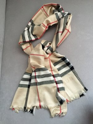 Burberry Cashmere Scarf brown-beige cashmere