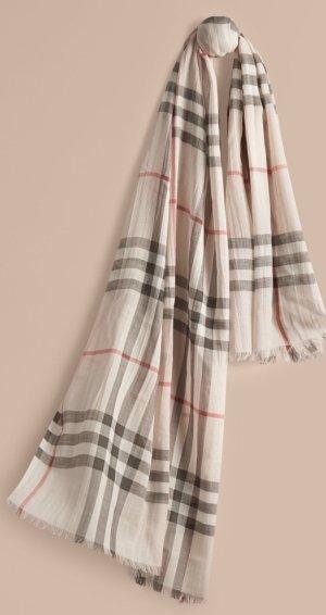 Leichter Burberry Schal aus Wolle und Seide mit Check-Muster