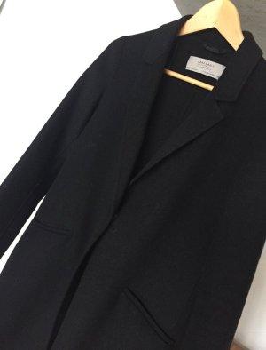 Zara Basic Wollen jas zwart