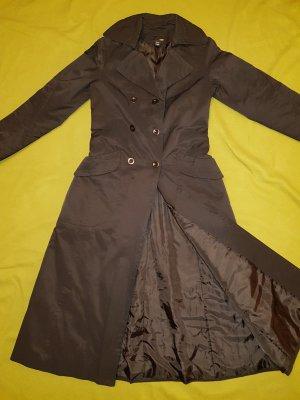 Leichter Damen Mantel schwarz tailliert , lang Gr.36 TOP