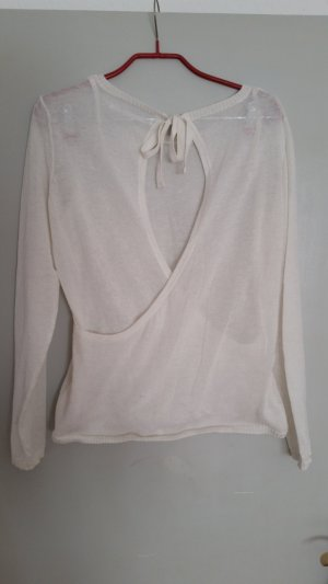 Be only Knitted Sweater natural white-white linen