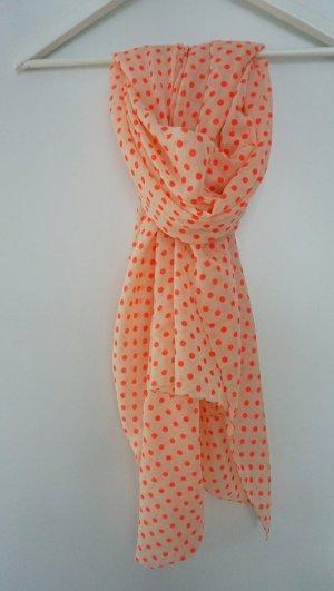Zara Écharpe blanc cassé-orange