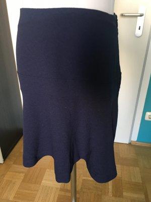 Leichter Glockenrock in dunkelblau von Promod, Größe 34