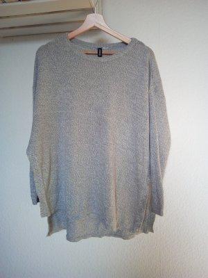 H&M Conscious Collection Pull oversize gris clair coton