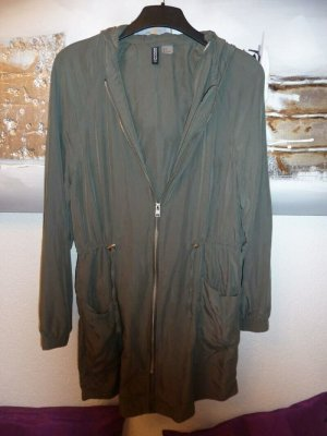 H&M Hooded Coat green grey