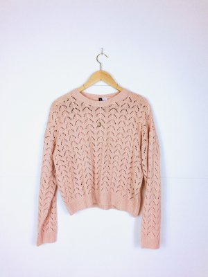 H&M Crochet Sweater rose-gold-coloured-light pink