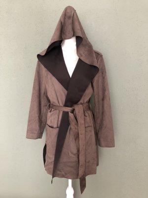 Zara Basic Capuchon jas bruin-donkerbruin