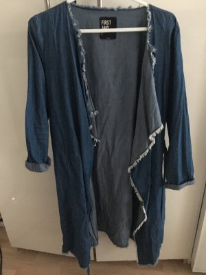 First and I Denim Blazer cornflower blue cotton