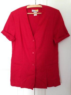 Leichter Kurzarmblazer Vintage rot