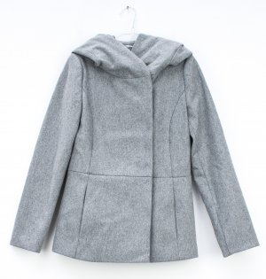 Hallhuber Short Coat light grey wool