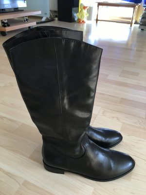 Tamaris Wide Calf Boots black leather