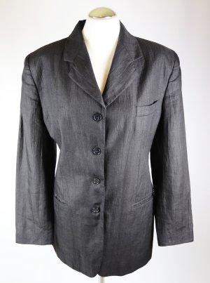 Leichter Leinen Blazer Jacke IGI&IGI Größe 42 L Schwarz Longblazer Klassisch