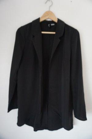 H&M Divided Blazer long noir polyester