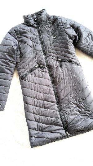 Versace Manteau matelassé gris foncé-gris anthracite nylon