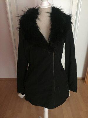 Leichter Mantel mit Kunstfell neu