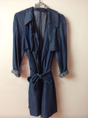 Zara Trench Coat dark blue-blue