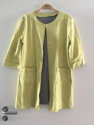 Leichter Mantel Velour gelb