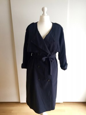 H&M Trench blu scuro Modal