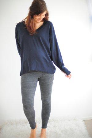 leichter Oversize Pullover blau navy H&M