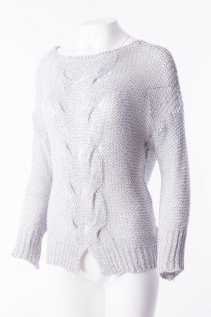 Leichter Oversize-Pullover in Schimmeroptik Grau (One Size)