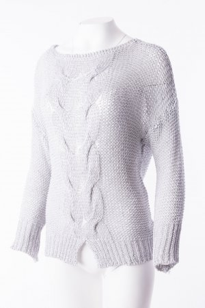 Jersey de punto gris-color plata Algodón