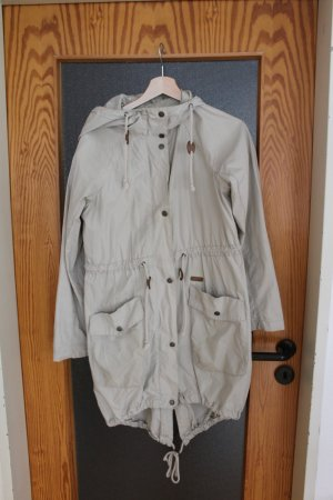 Leichter Parka, Übergangsjacke, Mantel, beige, nude, Größe XS