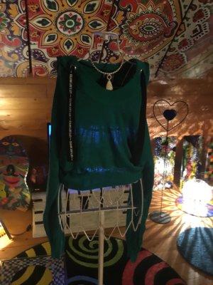 H&M Pull à capuche vert forêt